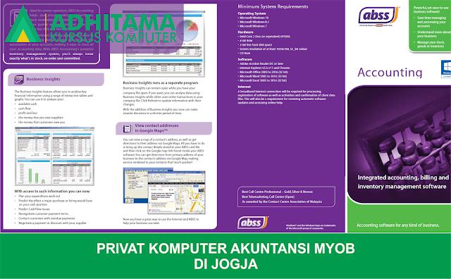 Privat Komputer Akuntansi MYOB di Yogyakarta