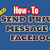 Sending A Private Message On Facebook