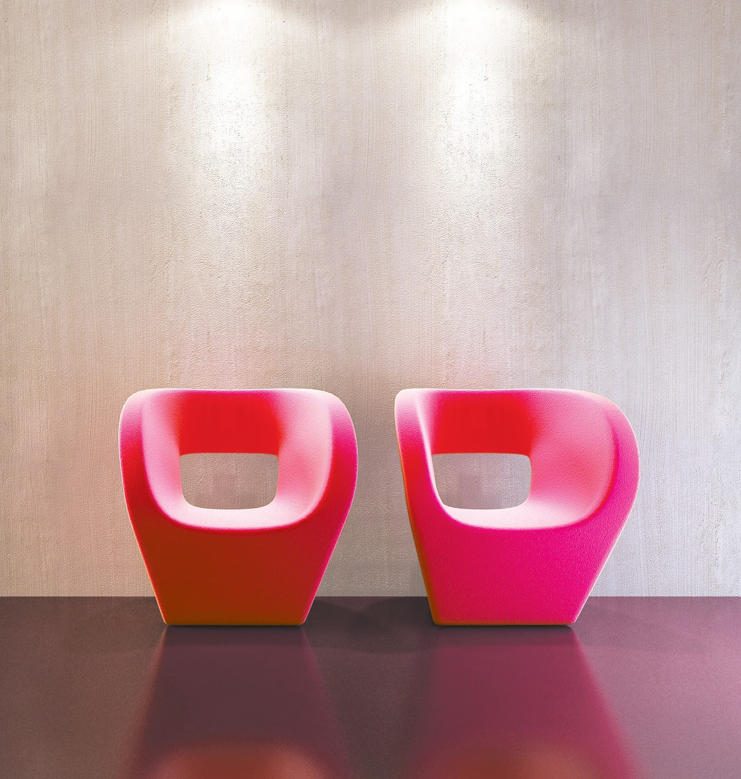 Beautiful red chairs