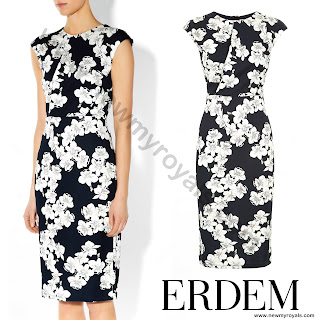 The Countess wore Erdem Analena Floral-Print Pencil Dress