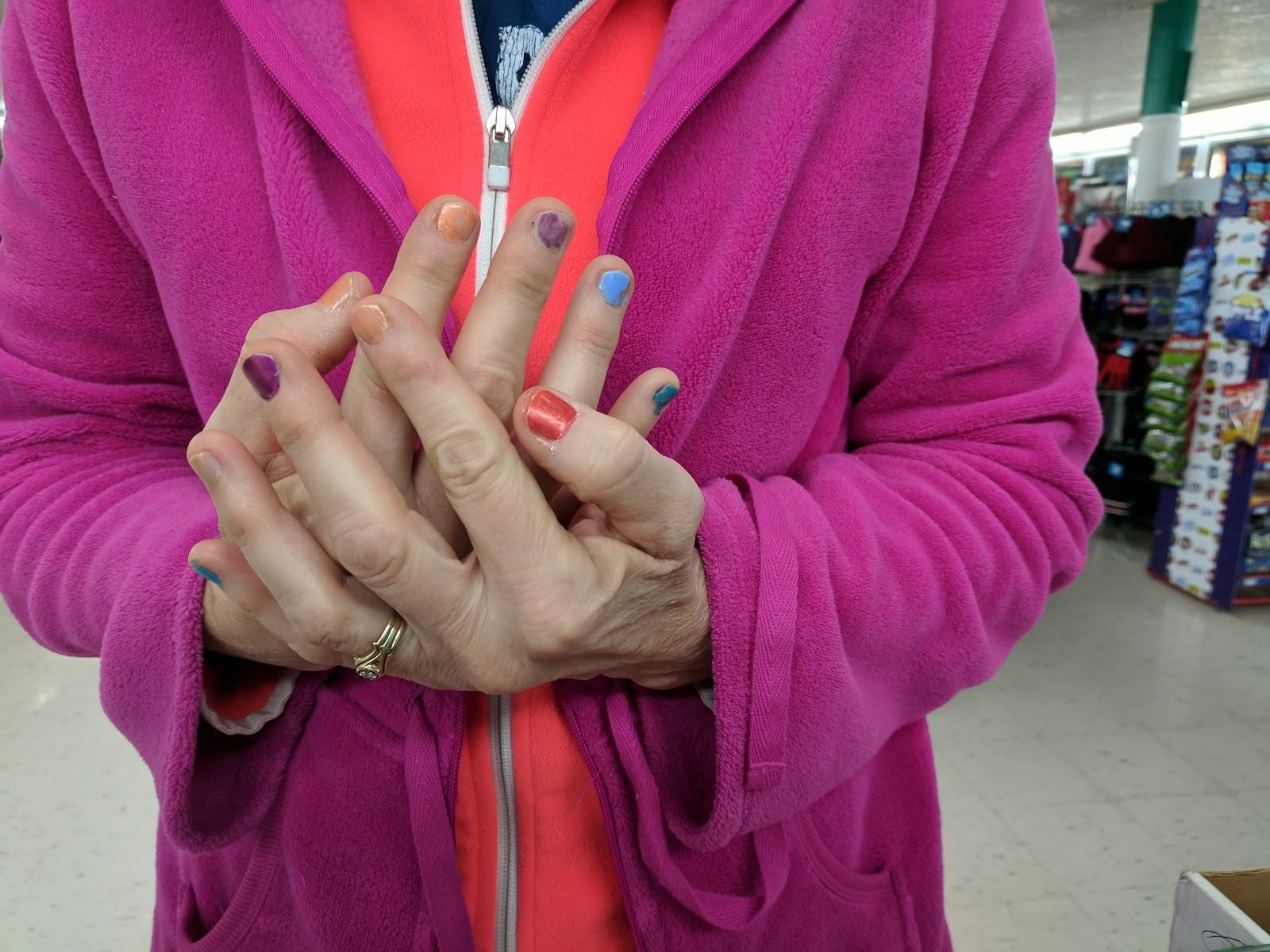 Weird Fingernail Paint Job