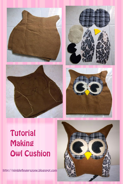 Tutorial Making Owl Cushion