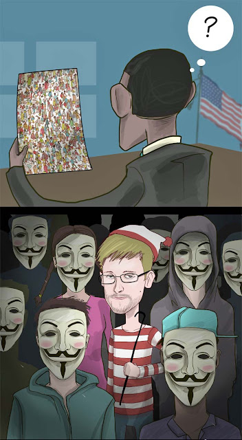 Geheimdienst Affaire - Wo ist Edward Snowden lustig