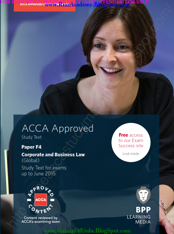 2015-ACCA-F4-CORPORATE AND BUSINESS LAW (GLOBAL) -STUDY TEXT