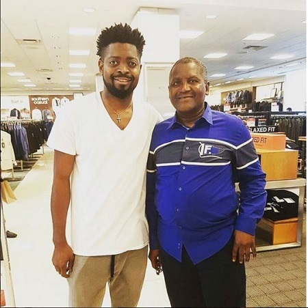 WOW!!! See Basketmouth Excited After Meeting Dangote at Lenox Mall (Photo)