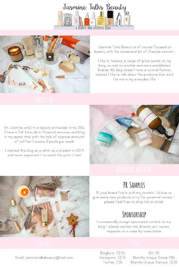 PR & Enquiries   Jasmine Talks Beauty