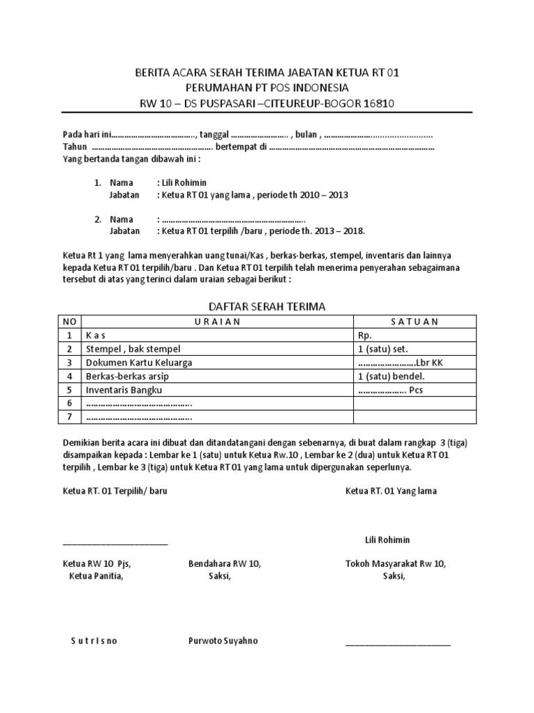 contoh surat tanda terima dokumen wood scribd indo