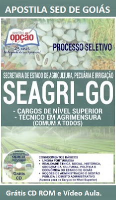 Apostila SED de Goiás 2016 concurso Secretaria de Desenvolvimento - SEAGRI GO