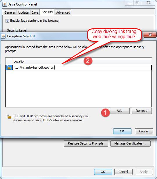 Hướng dẫn cấu hình java trên trình duyệt Internet Explorer