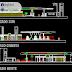 مخطط مشروع محطة بنزين بتصميم مميز اوتوكاد dwg