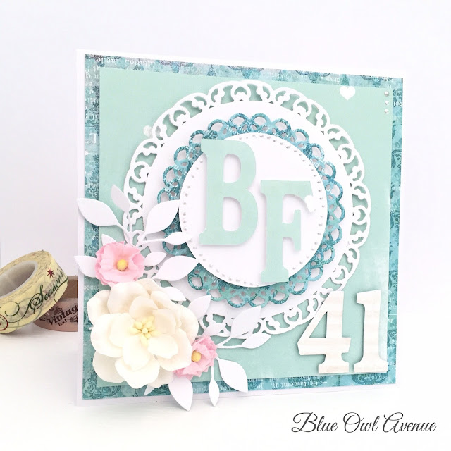 Anniversary scrapbooking card