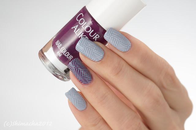 colour alike sweet September, purple plum, stamping nail, スタンピングネイル, ネイルスタンプ