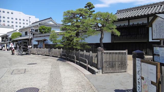 岡山県の倉敷美観地区の町並み