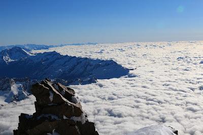 Widok ze szczytu Punta Gnifetti