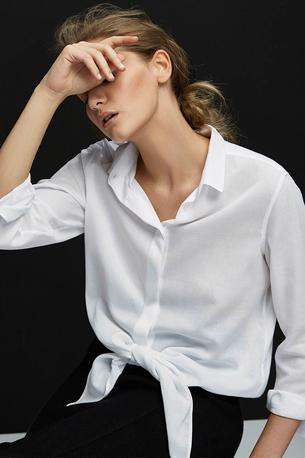 Massimo Dutti mujer camisa blanca