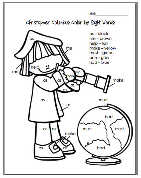 Mrs. Harman's First Grade Blog: Columbus Day