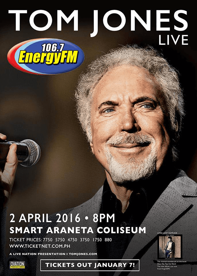 Tom Jones live in Araneta Coliseum Philippines!