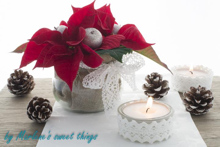 Werbung Weihnachtsstern Tischdekoration Marlenes Sweet Things