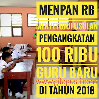 Usulan Pengangkatan 100 Ribu Guru CPNS Disetujui Menpan RB