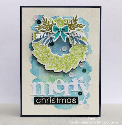 woodland wreaths wplus9 card