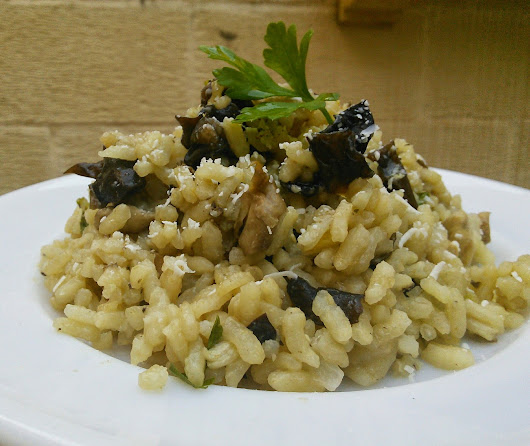 Baking & Cooking for the Desperate Kitchen Goddess: :: Chicken & Trio of Mushrooms Risotto ::