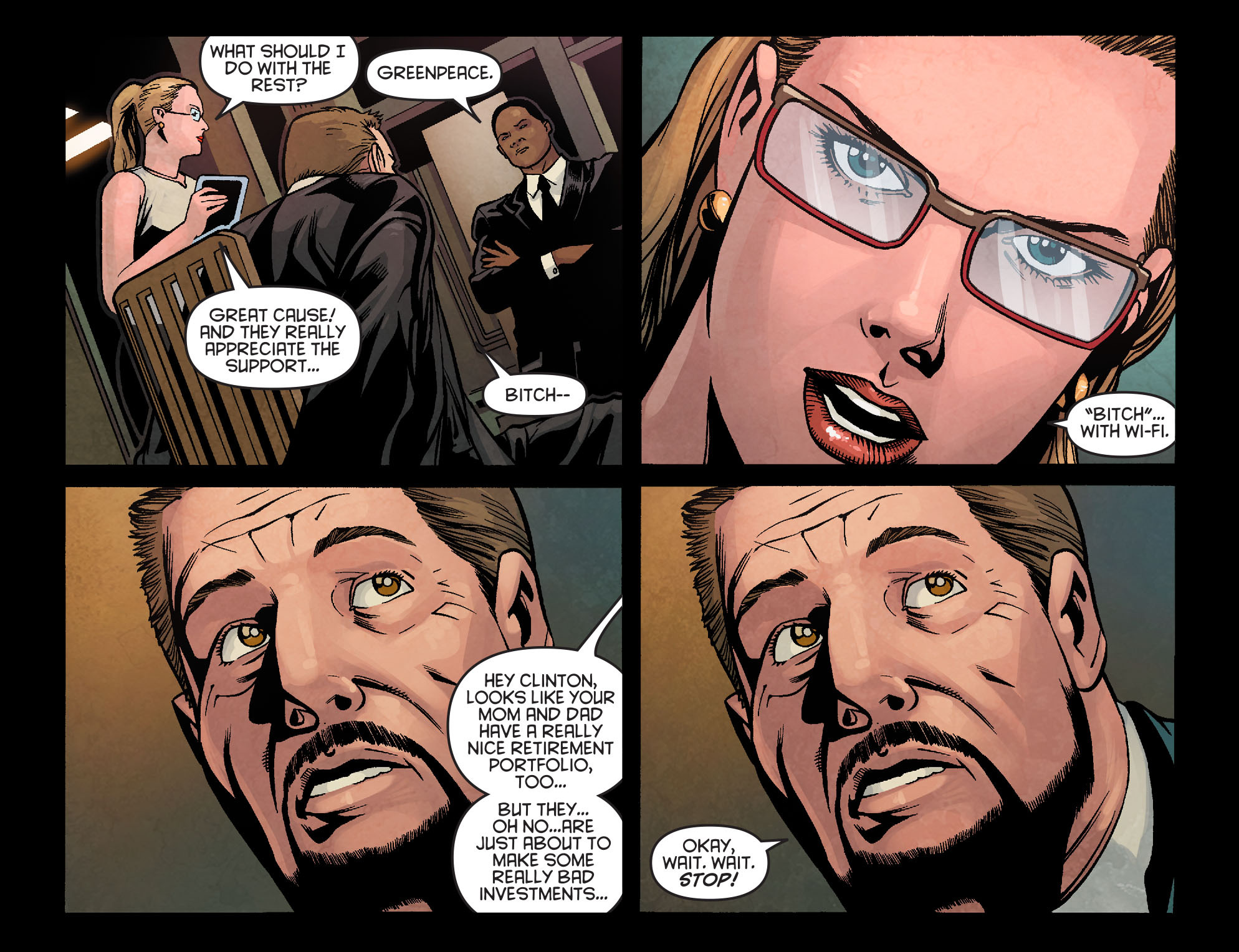 Read online Arrow: Season 2.5 [I] comic -  Issue #4 - 10