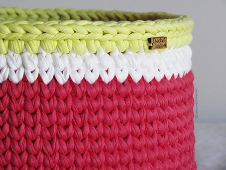 Crochet Criativo - Cesto vermelho