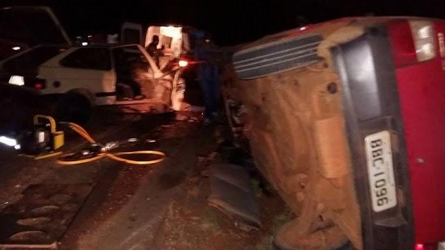 Sete jovens se envolvem em grave acidente em Pitanga