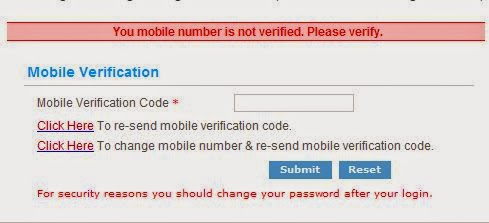 irctc mobile verification