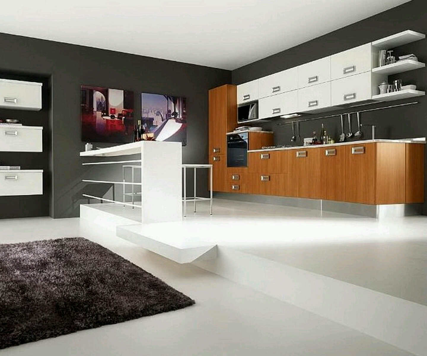 New Home Designs Latest Modern Home Kitchen Cabinet: New Home Designs Latest.: Ultra Modern Kitchen Designs Ideas