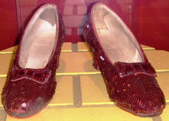 "Ruby red slippers from ""The Wizard of Oz"""