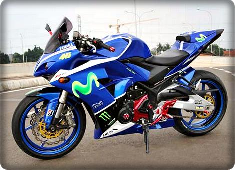 Yamaha R25 Modif Ala Tim Movistar MotoGP