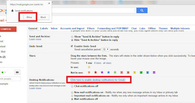 desktop notifications in gmail