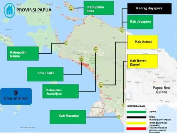 Lokasi Tes Cat BKN Propinsi Papua