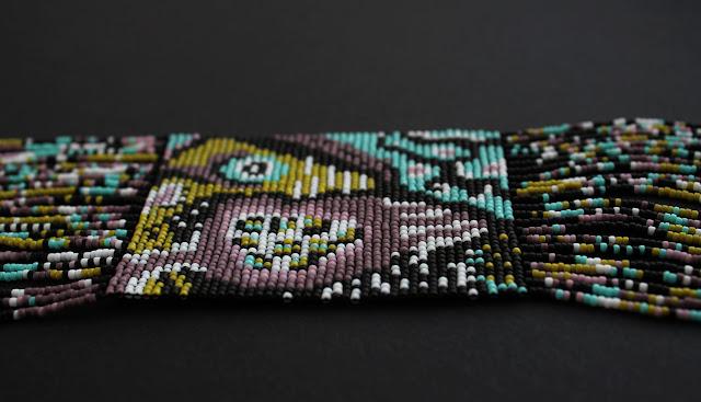 длинные украшения на шею купить гердан из бисера интернет магазин