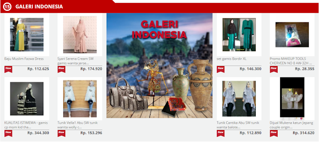 galeri Indonesia buka mall online