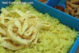 Resep dan cara membuat Nasi Kuning Magic com rumahan