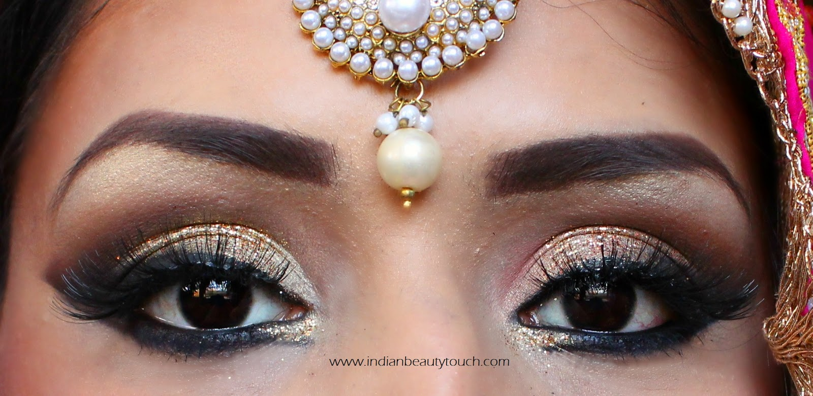 How to do Indian Bridal Eye Makeup - Indian Beauty Touch