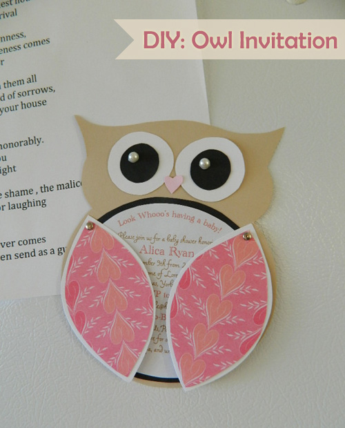 Vintage Owl Baby Shower Invitations: My Owl Barn: DIY: Owl Invitation