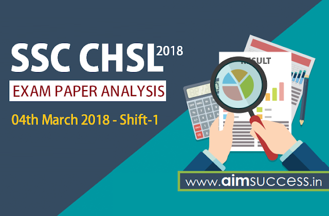SSC CHSL Tier-I Exam Analysis 4th March 2018 - Shift-1