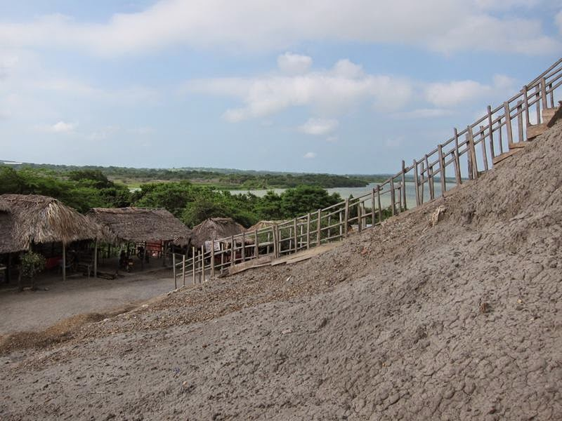 El Totumo Mud Volcano is a mud volcano located in Santa Catalina of northern Colombia.