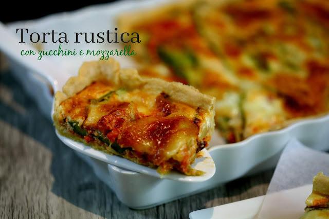Die deftige Schwester einer Quiche: Torta rustica con zucchini e mozzarella