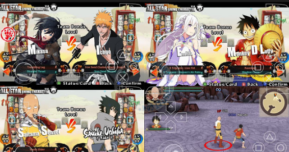 Download Mod Texture Pack NSUNI PSP [NS All Star Anime Character ...