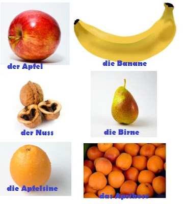 almanca mevya Almanca Meyveler;     die Birne armut  der Apfel elma  die Banane muz  die Mandarine mandalina  die Quitte ayva  der Kiwi kivi
