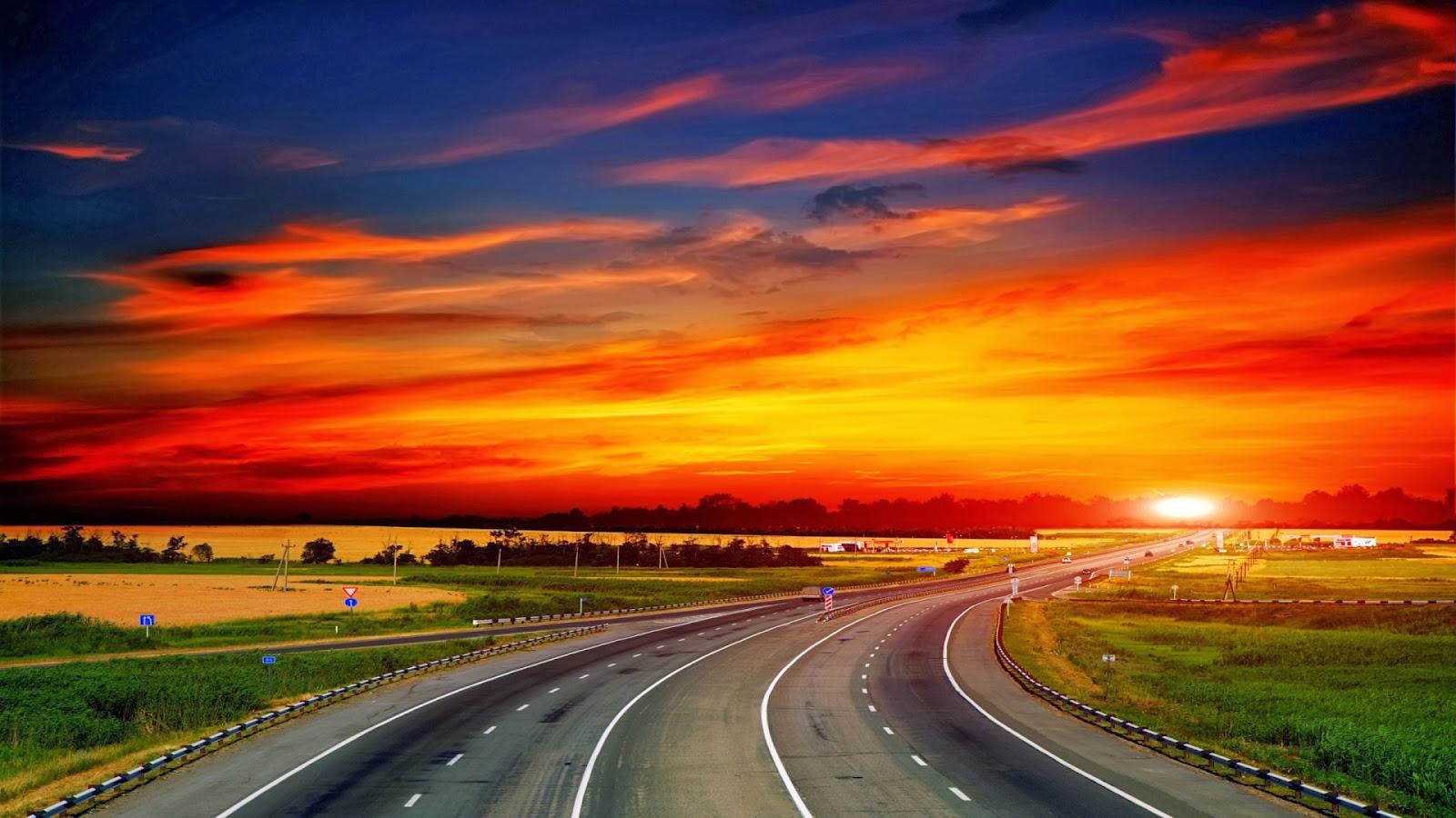 Wallpaper Pemandangan Sunset Hd Stok Wallpaper