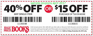 Half Price Books coupons for april 2017