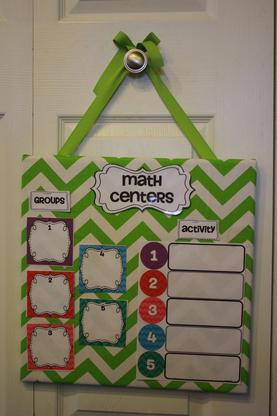 The Go To Teacher Monday Made It Math Center Board