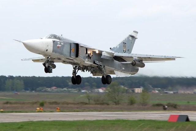 CIAF 2017 Ukrainian Su-24 Su-27