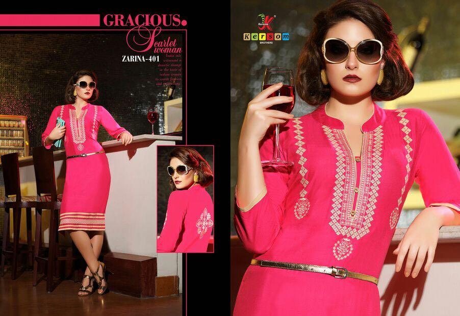 Zarina Vol 4 – Pure Heavy Rayon Designer Kurti Buy Online