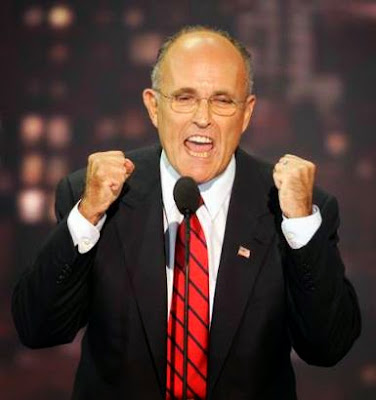 Rudy Giuliani enjoys discussing the two Mafia contracts placed on his head.